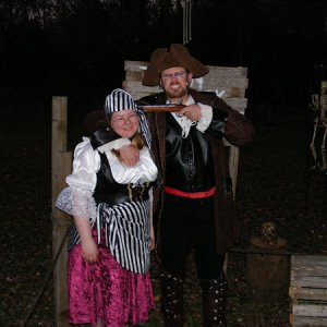Zombie-F and his wife as the Pirate Captain and his wench.