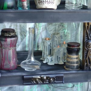 Bottles and curios