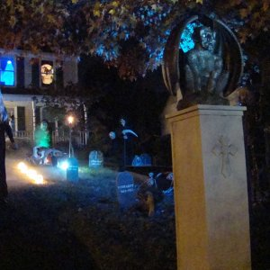 RoxyBlue in graveyard at night