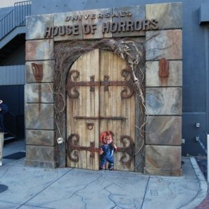 "Exit from the ""House of Horrors,"" remaining from Halloween Horror Nights '08."