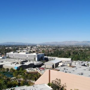 A look over studio city and the Universal backlot.