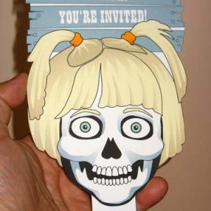 Using the reference photo, I created a skeleton version of my daughter for the invite.