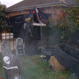 Cemetery and stirring Witch