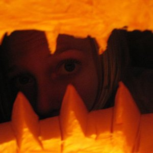 What the pumpkin sees.....