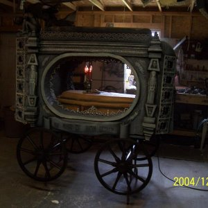 the completed hearse