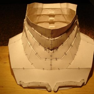 Front view of neck piece.