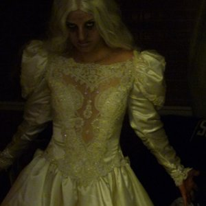White Lady Costume I always feel silly when I'm trying to look scary!