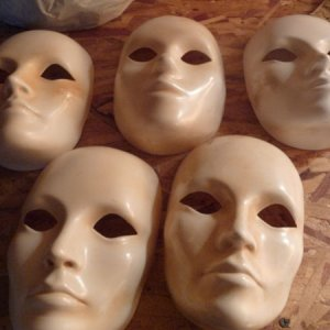 White Masks all for $5. So many possibilities of what to do with them!