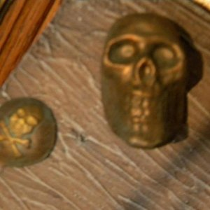 plaster of paris skulls and nail heads