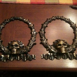 Hearse ornaments for the driver's seat.