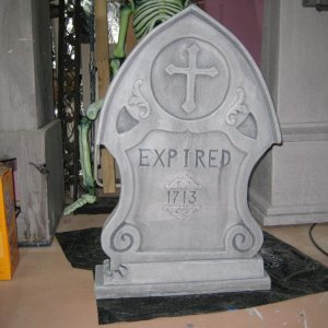 This is my rocking tombstone. I called it Expired