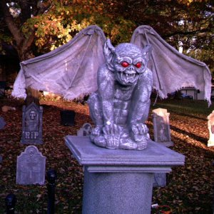 Gargoyle on cemetary column