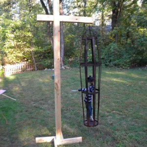 Gibbet built for my cage using 4 x 4