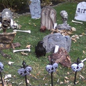 cemetery, still need to replace some of the cheesy tombstones